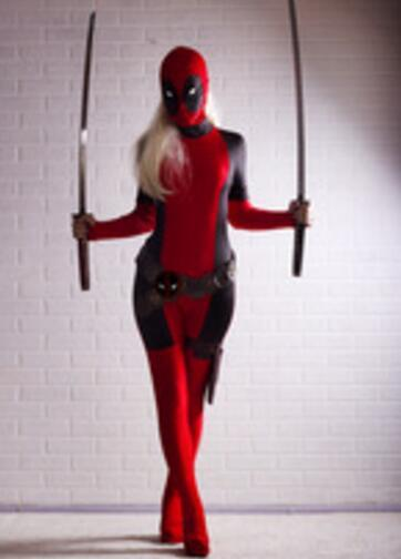 Fantasia Lady Deadpool Cosplay Costume Red Full Body Suit Spandex Marvel  Deadpool Zentai Onesie Women Lady Deadpool Costume-in Movie   TV costumes  from ... 0b8f08e64