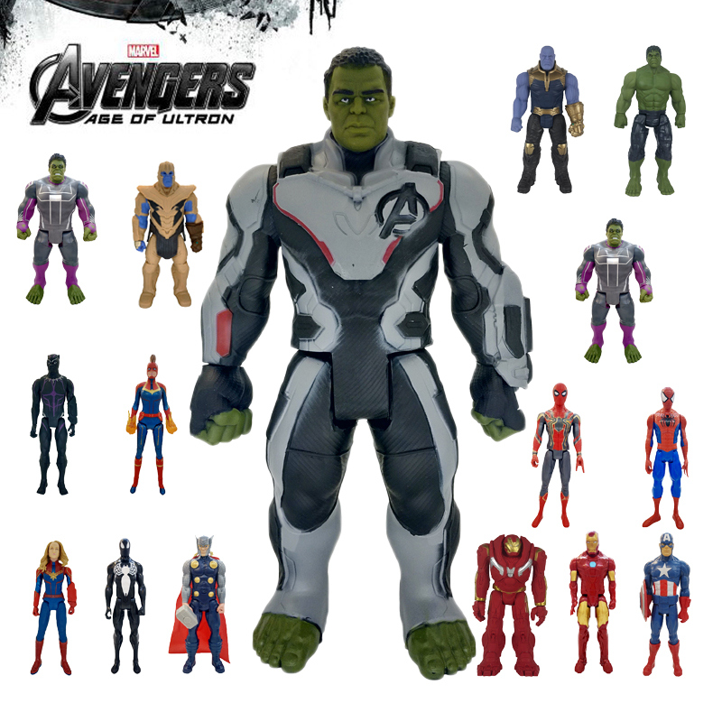 30cm Marvel Avengers Toys Thanos Hulk Buster Spiderman Iron Man Captain America Thor Wolverine Black Panther Action Figure Dolls image