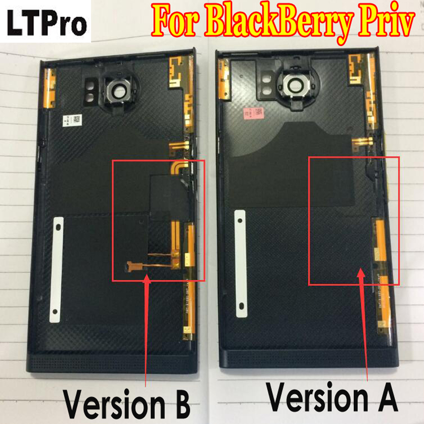 LTPro Best Quality Battery Cover Housing Door Back Case For BlackBerry Priv with Rear Camera Lens Mobile Phone Replace Parts(China)