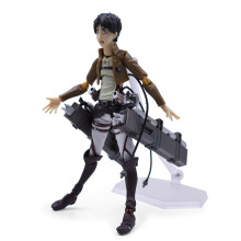 Anime Attack on Titan Eren Jaeger PVC Action Figure Doll Figma 207 Collectible Model Toy Christmas Gift For Children цена в Москве и Питере