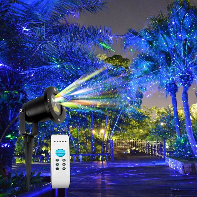 projector mini laser led christmas light garden holiday lighting elf show outdoor decorative projection lights