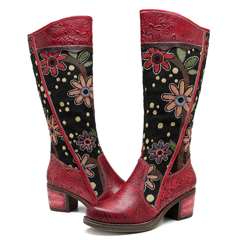 Vintage Patchwork Western Cowboy Boots
