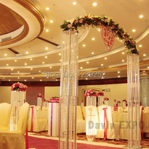 10m crystal clear acrylic bead curtains party supplies for Hotel decor suppliers