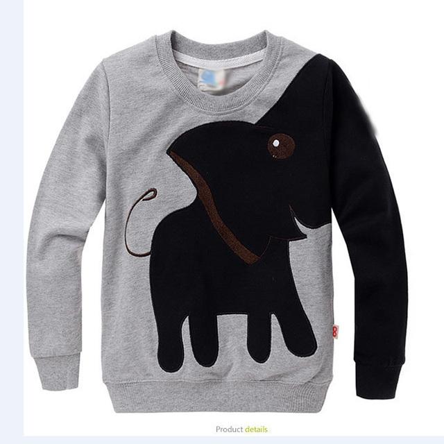 Hot Venda Nova Crianças Hoodies Dos Desenhos Animados do Elefante Design Meninos da Primavera & meninas Hoody Qualidade Superior Desgaste do Outono das Crianças 4 Cores YY0448