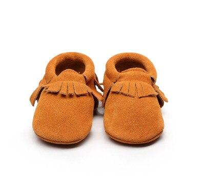 10colors Suede Genuine Leather Newborn Baby Infant Toddler Moccasins fringe Soft Moccs Shoes Soft Soled Non-slip Prewalker Shoes