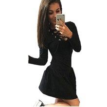 Frauen Rüschen Kleid Marke Bandage Tiefem v-ausschnitt Langhülse Mini Kleider Cocktail Frauen Kleid Herbst Vestidos De Festa LMH01