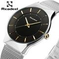 Men's Watches Stainless Steel Band Mesh Analog Quartz Wristwatch Ultra Thin Dial Luxury Watch Men clock male reloj hombre