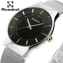 Hommes de Montres En Acier Inoxydable Maille Bande Analogique Montre À Quartz Ultra Mince Cadran Montre De Luxe Hommes horloge mâle reloj hombre