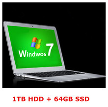 14inch computer laptop ultrabook PC 1TB HDD & 64GB SSD 4GB RAM  J1900 2Ghz processor WIFI HDMI webcam