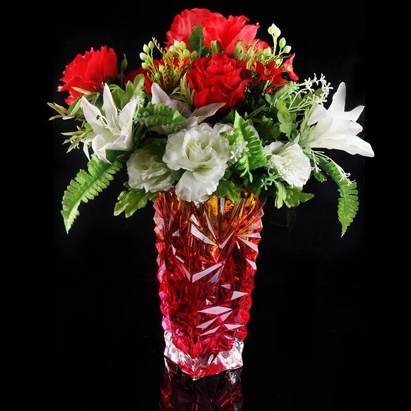 Crystal Cluster Quartz Flower Vase - Home & Garden