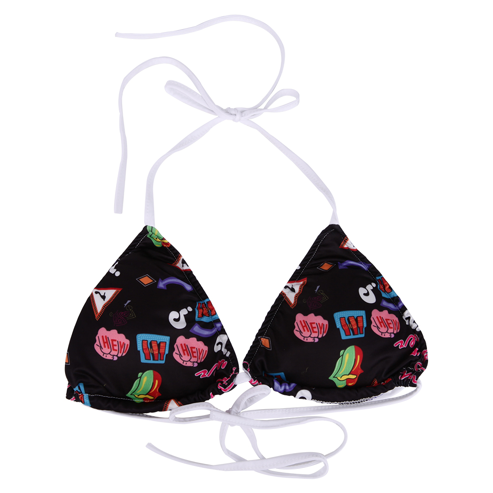 Women Sexy Floral Printed Bikinis Halter Padded Split Swimsuit 2017 Women Swimwear Summer Beach Suit Bandage Bikini Set 3