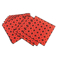 "10 pcs 1"" Round Adhesive Shooting Targets Reactivity Shoot Target Dots Fluorescent Orange Archery Training Paper Targets(China)"