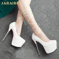 SARAIRIS 2019 big Size 43 top quality Party Shoes Women 11 Colors Sexy 16cm High Heels Fashion Red Pumps wedding brides Shoes