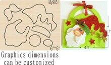 Molde de madera de Papá Noel 5 troqueles accesorios para cortar troquel de madera Regola Acciaio die Miura, MY