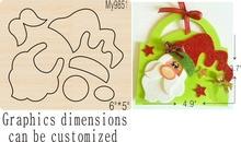 Santa Claus wooden mold-5 die cut accessories Regola Acciaio Die Misura ,MY