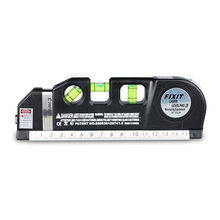 Multifunction Laser Level Marking Scale with Steel Tape Measure Horizontal Vertical Cross Laser Light Line Levelling Instrument