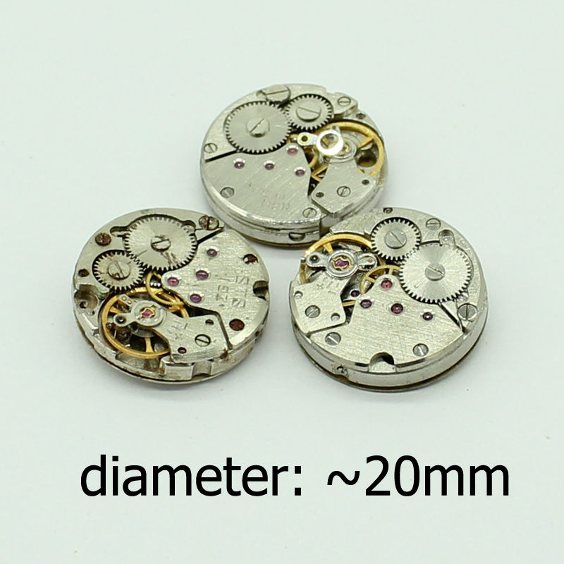 High Quality 3pcs lot 20mm Vintage 1980 39 s Watch Movements Steampunk Cufflinks Jewelry Accessories in Jewelry Findings amp Components from Jewelry amp Accessories