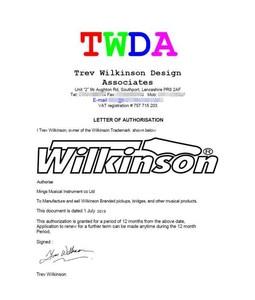 Image 5 - Wilkinson ปรับ Wraparound LP กีตาร์ไฟฟ้า Chrome Silver WOGT3