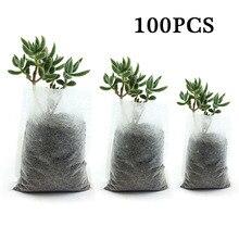 100 шт садовые мешки для питомника растение выращивание рассады биоразлагаемые тканевые горшки для поднятия экологически чистых аэрации посадочные сумки поставки