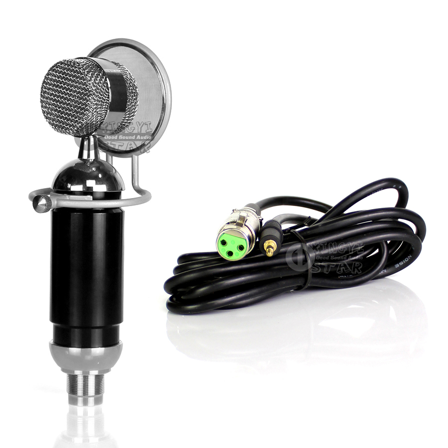 Professional Cardioid Large Diaphragm Condenser Microphone Shield With 3.5mm Audio Wire For Karaoke Broadcast Recording Studio heat live broadcast sound card professional bm 700 condenser mic with webcam package karaoke microphone