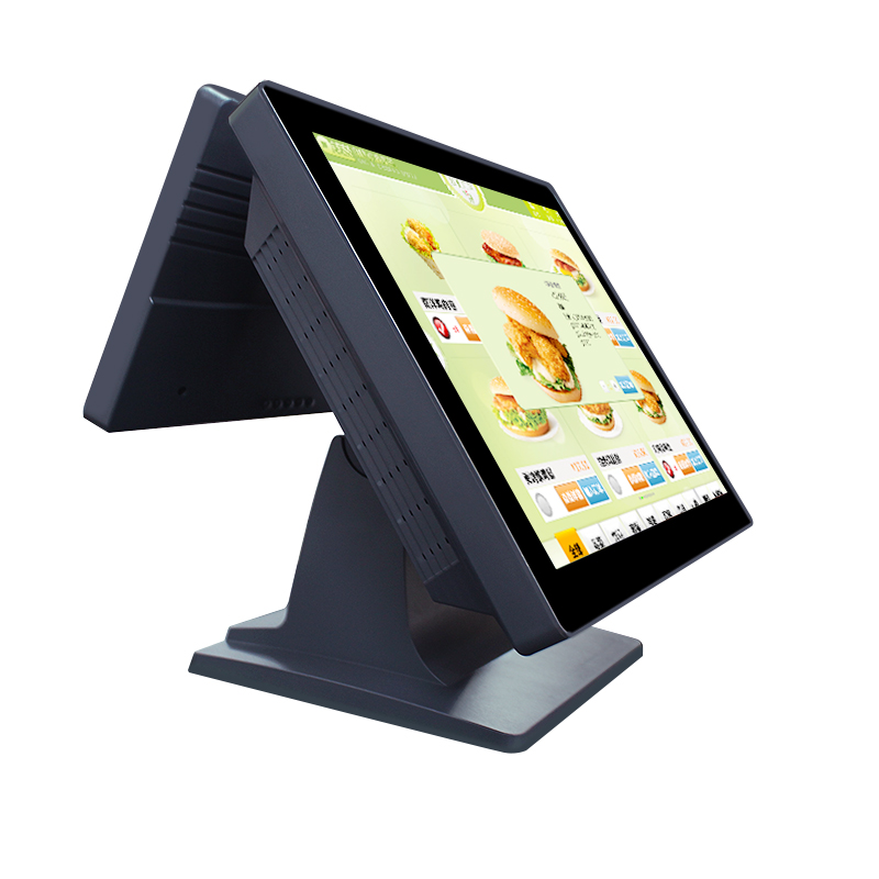 Wholeset Dual Screen Desktop Pos Machine With Pos Software 15 Inch All In