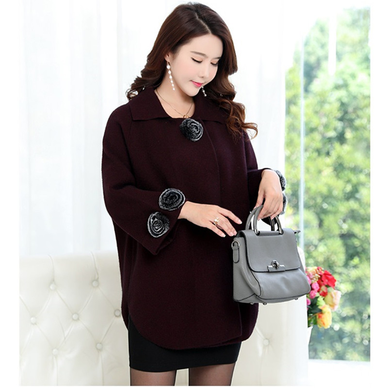 UHYTGF Korean Winter Woman Cashmere Coat 2018 Plus size Autumn   Fashion Elegant Ladies Coats High quality especially female 304-in Wool & Blends from Women's Clothing    2