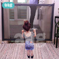 AAG Folding Baby Barrier Safety Fence Portable Baby Gate Safe Guard Children Isolation Net Kid Safe Guard Protect for Pets *