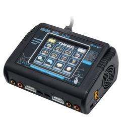HTRC T240 DUO AC 150 Вт DC 240 Вт 10A сенсорный экран двухканальный аккумулятор баланс зарядное устройство Dis зарядное устройство для RC игрушки Бесплатн...