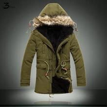XMY3DWX Стильный мужчины зимой, чтобы согреться длинный хлопок-проложенный одежды/Мужской полноценно Утолщение теплый с капюшоном Длинный жакет
