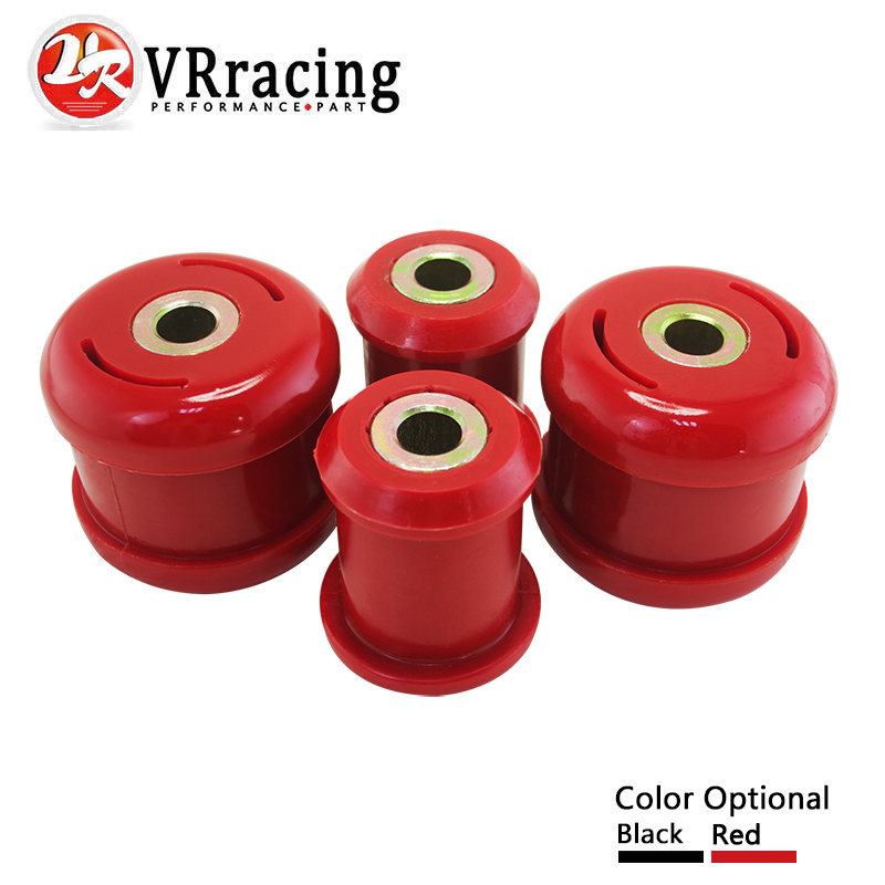 VR RACING - Front Lower Control Arm Bushings FOR Honda Civic 01-05 FOR Acura RSX 02-06 Polyurethane BLACK,RED VR-CAB02