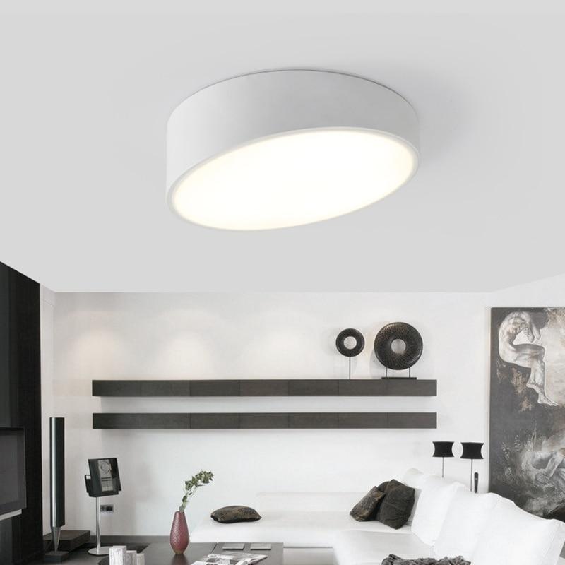 Surface Mounted Modern Led Ceiling Lights Black/White Dia 25/40/50/60cm AC 110V 220V Ceiling Lamp Lamparas De Techo Verlichting