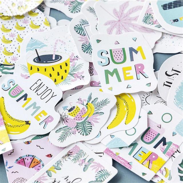 45 unids/pack selva tropical decoración diario lindo diario fruta pegatinas Scrapbooking de papelería de la escuela suministros