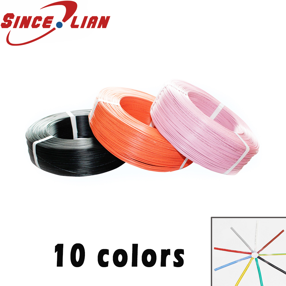 <font><b>100M</b></font>/1LOT <font><b>24AWG</b></font> UL1007 multicolor Environmental Electronic Wire cable can mixed color 7colors OD 1.4mm Tinned Copper Wire image