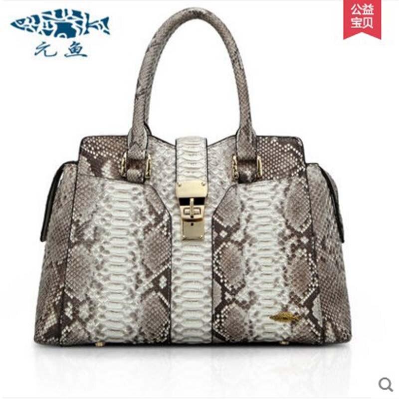 yuanyu The new 2016 real python leather women handbag fashion Europe leisure handbag serpentine wrist package women handbag yuanyu new 2017 real python skin snake skin women backpack two shoulder bag big capacity serpentine
