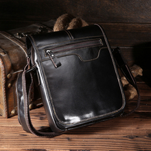 TIANHOO messenger bag flap oil- wax cow leather man shoulder simple fashion casual crossbody bags for men