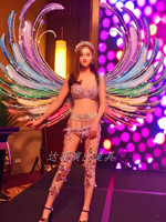 Luxury rainbow angel wings Adults Wing studio photography Model Party decoration COSPLAY props