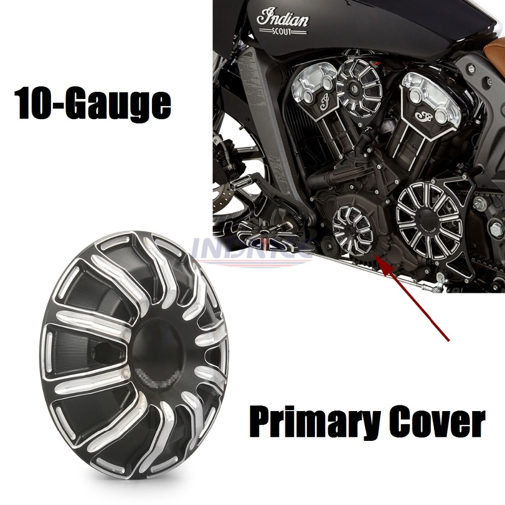 10-Gauge Stator Cover For Indian Scout Stator Cover scout indian motorcycle -LH Black oysters indian v black white