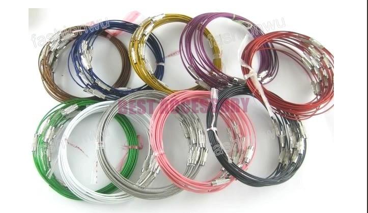 conew_memory wire cord necklace choker00131