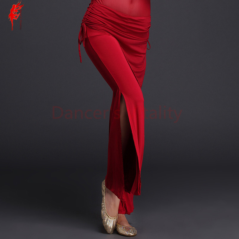 Sexy Belly Dance Trousers Modal Pants Girls Belly Dance Mesh Waist Trousers Women Belly Dance Practice Clothes Pants M/L
