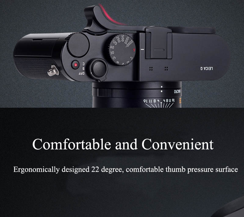 New Thumb Rest Thumb Grip Hot Shoe Cover Thumbrest For Leica Q2 Q Typ 116 Black Red