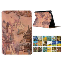 For iPad mini 1 2 3 Flip PU Leather Case Cover Colorful Print Slim Protective Stand Shell For Apple iPad mini 1 2 3 7.9'' Cases