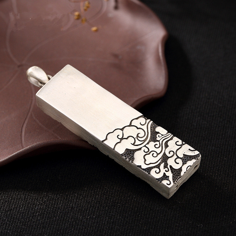 Free shipping Original Handmade Auspicious Clouds Pendant, 100% pure 925 Sterling Silver Pendant for women Jewelry