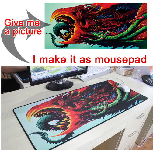 Image 2 - Yuzuoan Customize Support  Large Gaming Mouse Pad Locking Edge DIY Mousepad Speed Mouse Mat For CS GO League of Leg Dota 11 Size-in Mouse Pads from Computer & Office