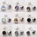 Brincos do parafuso prisioneiro!! Moonstone prata, Peridot & Outras Pedras Variação Escolha