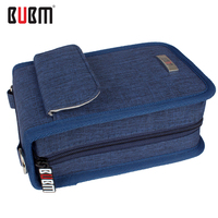 BUBM 3DS LL/XL game console portable handbag with a shoulder belt black blue gray charger receiving  Usb SD Card cable