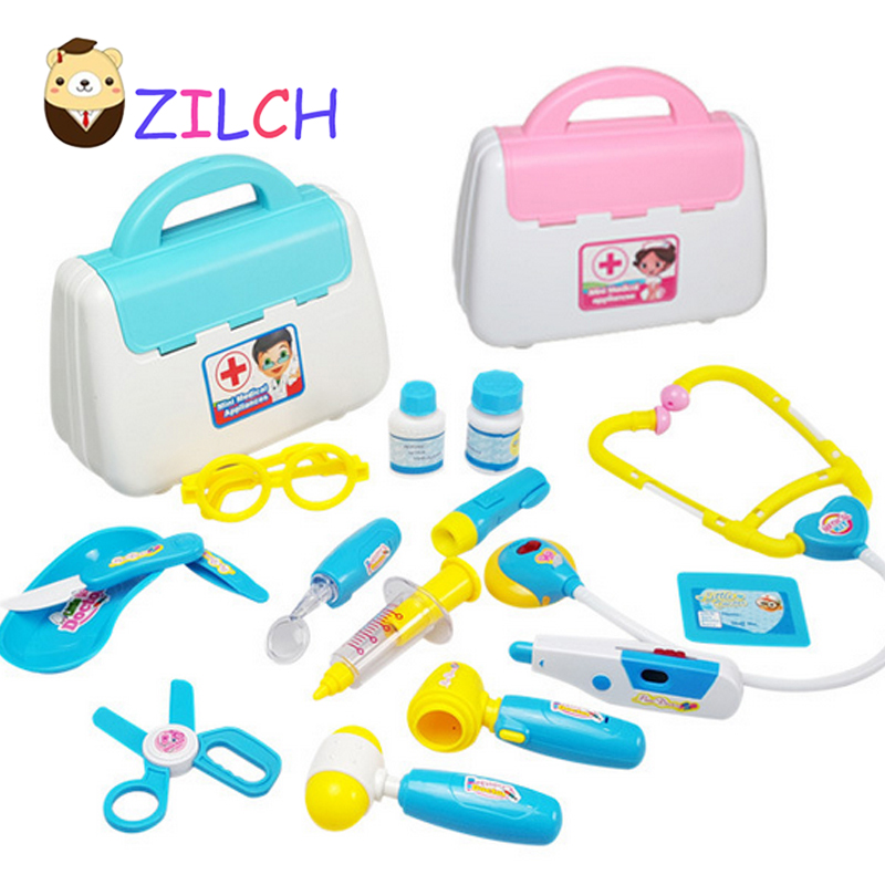 15 PCS Doctors Set Medical Case Pretend Role Toys Doctor Nurse Kit Kids Playset