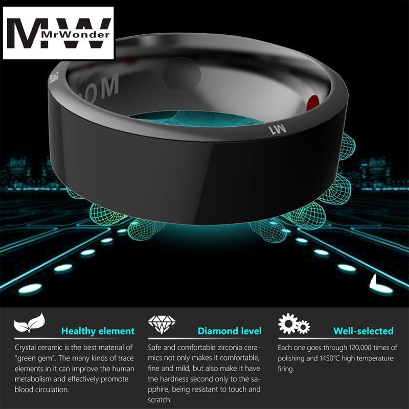 Mrwonder Smart High-tech Magic Ring Android ISO Phone Health Tracker Wireless Sharing Health Monitoring Information Ring SAN0