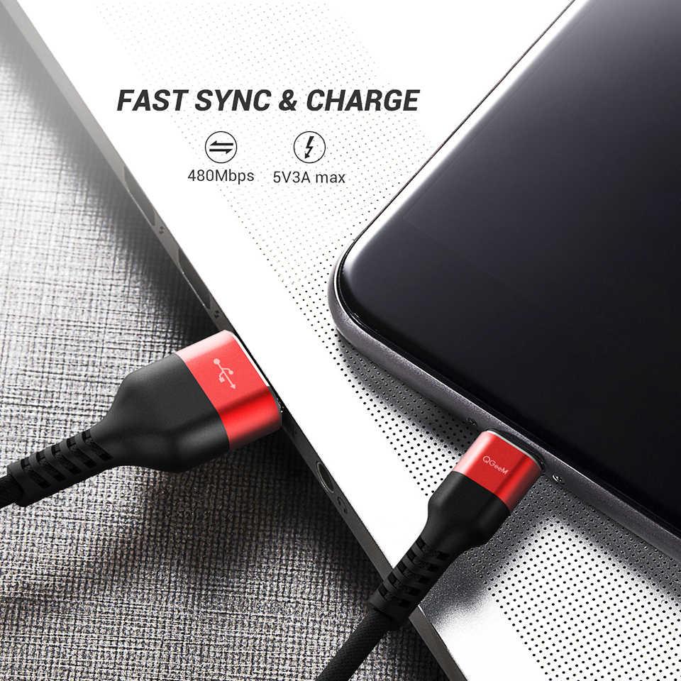 QGEEM USB tipo C USB-C teléfono móvil cargador usb de carga rápida Cable para Samsung Galaxy S9 Huawei Mate 20 xiaomi USB tipo-C