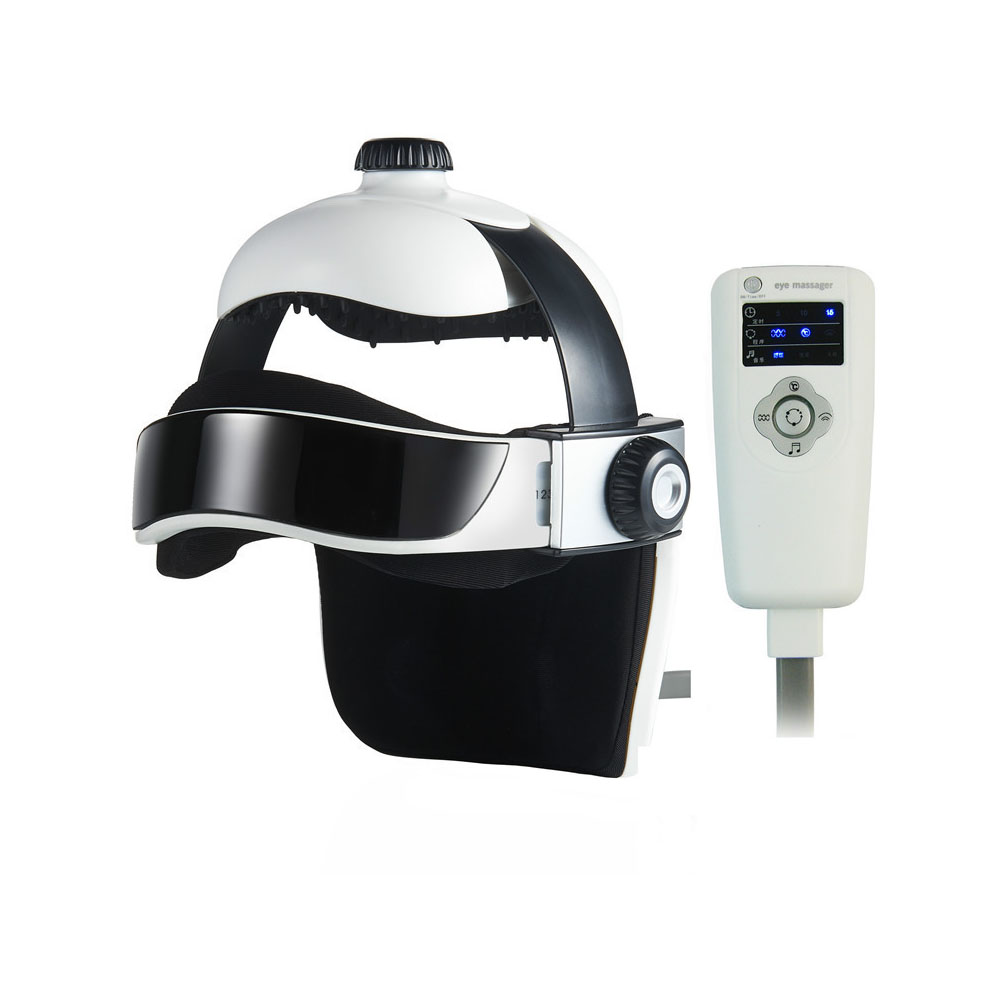 Electric Air Pressure Acupoint Points Head Neck Eye Massager Helmet Vibration Therapy Massager Brain Relaxtion Health Care jyt magic hand massager stimulate acupoint relieve aches water proof vibration grab head knead shoulder pinch neck spa