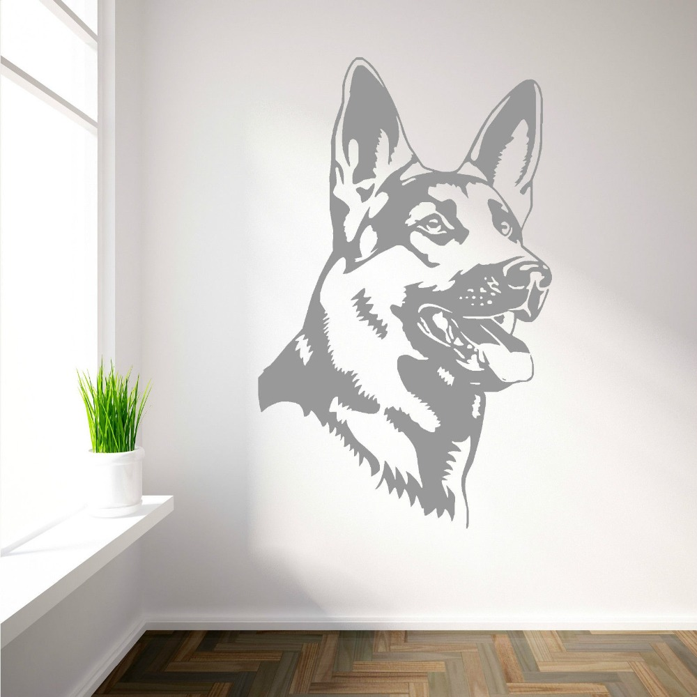 buy removable german shepherd alsation dog vinyl wall art sticker home. Black Bedroom Furniture Sets. Home Design Ideas